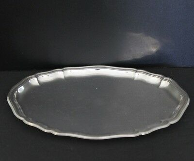 """Vintage German 835 Silver Oval Tray Over 5 troy ounces 9"""" x 6"""""""