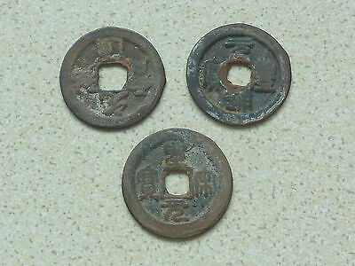 3 Genuine Larger Size Ancient Chinese Coins