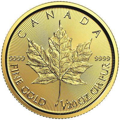2016 1/20oz Canadian Gold Maple Leaf Coin .9999 Fine BU