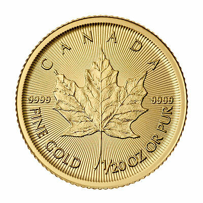 2015 1/20oz Canadian Gold Maple Leaf Coin .9999 Fine BU