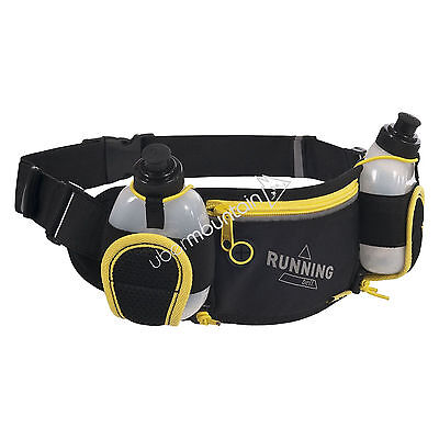 Trespass Cancan Travel Hiking Running Hip Pack Bum Bag with 2 Water Bottles