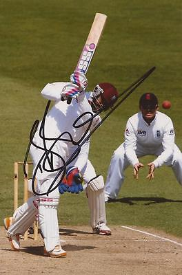 WEST INDIES: DARREN BRAVO SIGNED 6x4 TEST ACTION PHOTO+COA