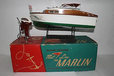 1950's Fleetline Marlin Boat with Johnson Sea Horse Motor, with Box