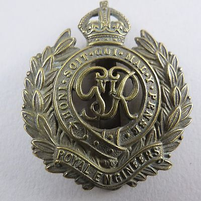 Military Cap Badge  Royal Engineers George VI British Army