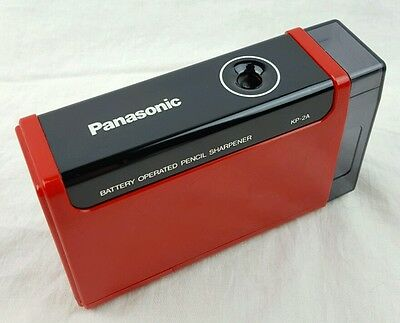 Vtg RED PANASONIC Electric Pencil Sharpener Battery Operated Made in Japan KP2A