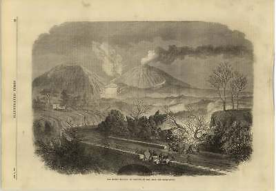 1869 The Recent Eruption Of Vesuvius As Seen From The Observatory
