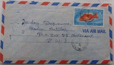 Grenada 1970 Airmail Cover With Carriacou Postmark To Montserrat
