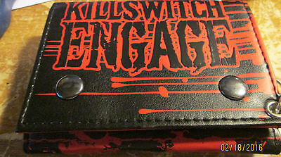 Killswitch Engage Wallet Leather  New Out Of Print Super Rare