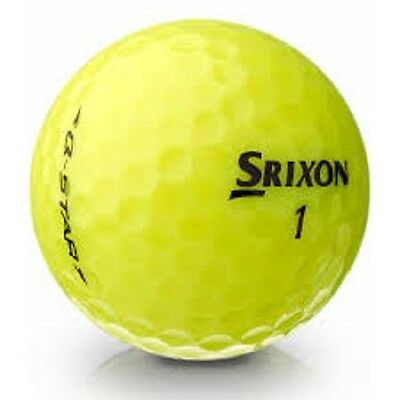 36 Mint Srixon Q Star Yellow Used Golf Balls + Free Tee's