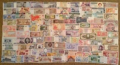 100 X Different Banknotes. All Different. Dated 1948-2015.