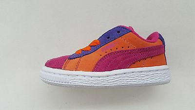watch a54cb 487f6 PUMA SUEDE CLASSIC Pink Orange Purple White Toddler Baby Size Sneakers  353636-14