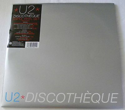 """U2  DISCOTHEQUE TRIPLE 12"""" single SET with POSTER   UNPLAYED"""