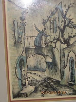 Zvi Livini 3 Signed Drawing With Blue Water Color All Framed 17 X 13- $50 Each