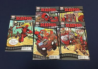 Prelude To Deadpool Corps #1-5 : Complete Series : Marvel 2010 : Liefeld : 2 3 4