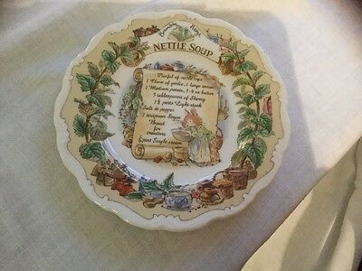 Rare Doulton Brambly Hedge Design Production Proof - Nettle Soup Recipe Plate