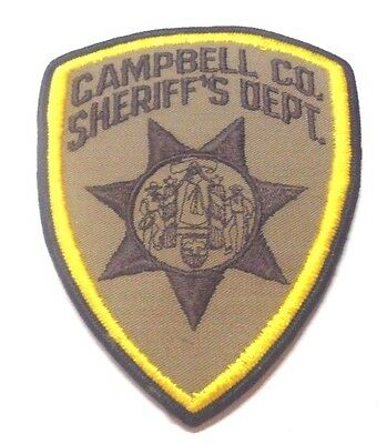 Campbell County Wyoming Sheriff Patch Unused