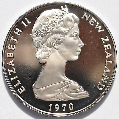 1970 $1 Cook Island New Zealand Dollar Proof In Mint Box