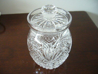 Tyrone Crystal Lidded Preserve Jar,base Etched Genuine Piece Not A Second.