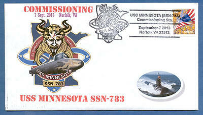 Greytcovers Naval Cover Uss Minnesota Ssn-783 Commissioning 7 Sept 2013
