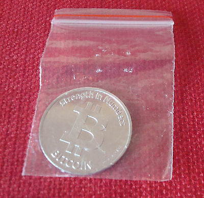 New Souvenir Plastic BIT COIN in small plastic bag