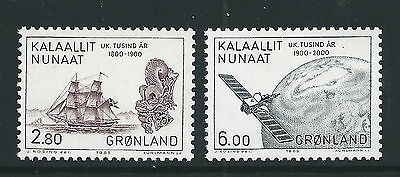 Greenland 1985 Millenary of Greenland SG152-153 mint set stamps