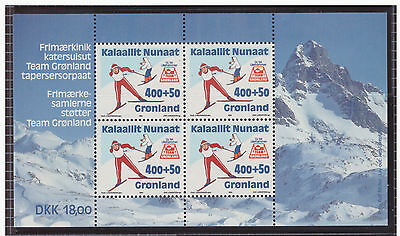 Greenland 1994 Skiers Sport mint MNH sheet stamps SGMS267