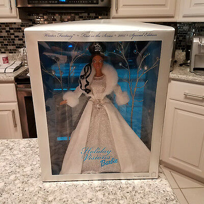 Mattel HOLIDAY VISIONS BARBIE DOLL 2003 #C0166 Winter Fantasy Special Edition