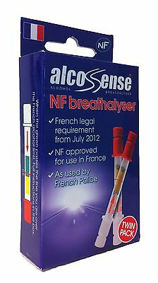 Alcosense French Nf Approved Breathalyser Single Pack Alcohol Tester Disposable