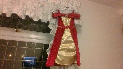 Girls Disney Princess Fancy Dress Queen/elizabethan Style 3/4 Years