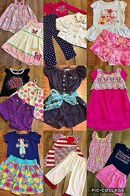 Girls Clothes Sz 2T-3T Spring Summer Outfits Lot Of 24 Pc