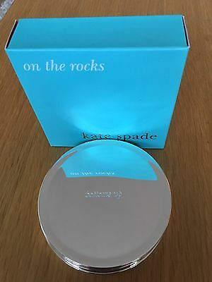 Kate Spade On The Rocks Silver Coasters Brand New