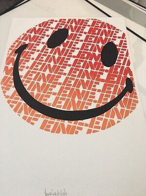 Ben Eine -  Signed Screen Print -Edition 50 From 2004 Rare Print