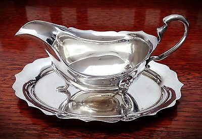 Antique/Vintage G C & Co Silverplate Gravy Boat With Matching Tray - England