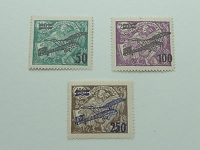 Czechoslovakia 1922 Airplane Surcharges Sg224/6 Mint