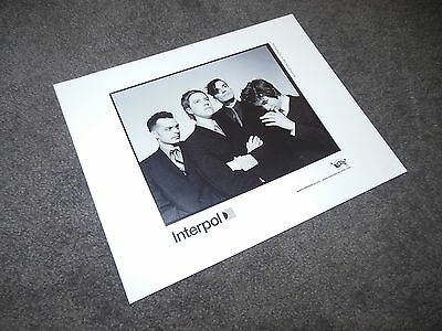 INTERPOL Press Kit 8x10 Promo Photo ONLY