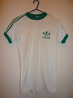 Vintage Addidas T-Shirt - Small - White/Green