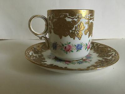 Superb Hammersley & Co. demitasse cup and saucer for Ovington Bros. New York.