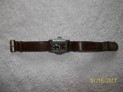 Art Deco watch with original leather strap