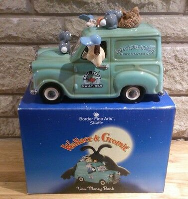 Wallace and Gromit Money Box by Border Fine Arts - Aardman Animation New Boxed