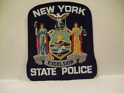 police patch  STATE POLICE NEW YORK  OLDER CLOTH BACKING