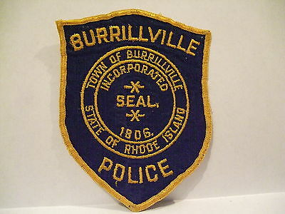 police patch  TOWN OF BURRILLVILLE POLICE RHODE ISLAND