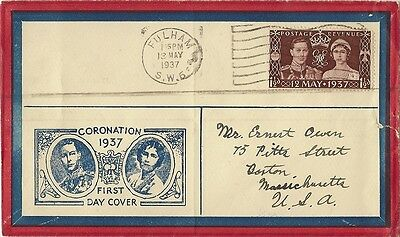 1937 Coronation Of King George First Day Cover United Kingdom