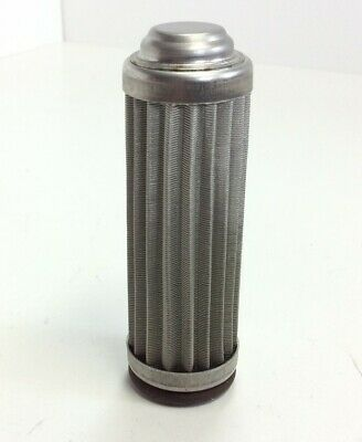 "Flow Ezy 8504-04 Hydraulic Filter Length: 3.25"" Width: 1.0375"" Stainless Steel"