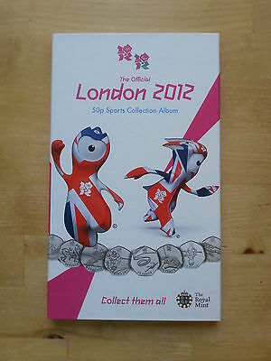 OFFICIAL Olympic 50p Sports Album Royal Mint Coin Folder Completer Medallion