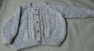 """Baby Girls Cardigan - Chest 22"""" NEW Fit age approx 12/18 months"""