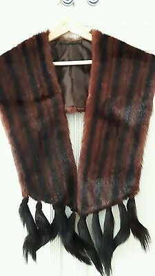 vintage fur stole with tails