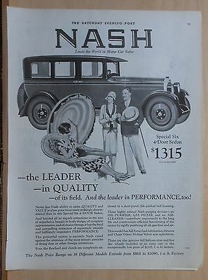 1926 magazine ad for Nash - Special Six 4-door Sedan, The Leader In Quality