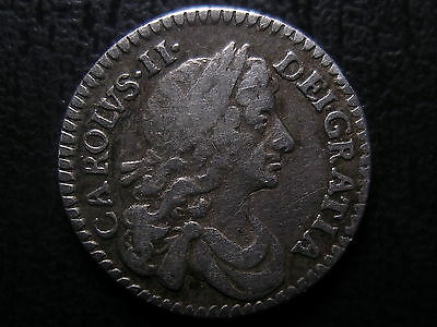1673 Charles Ii Silver Maundy Twopence