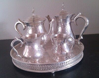 Silver Plated Tea & Coffee Set 5 Pieces EPNS Sheffield