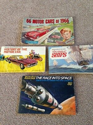 4 Vintage picure card albums with cards - Brooke Bond/The Victor